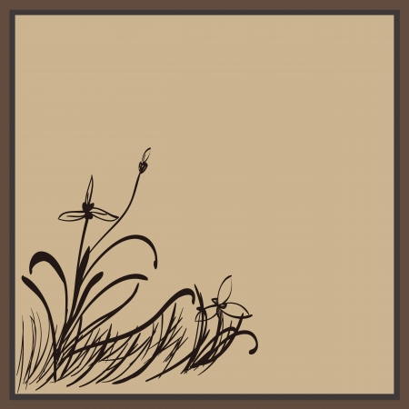 Orchid painted in traditional Chinese style,vector Vector