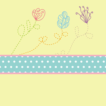 Flower card pattern design,vector Vector