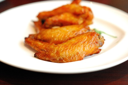 Delicious smoked chicken wings photo