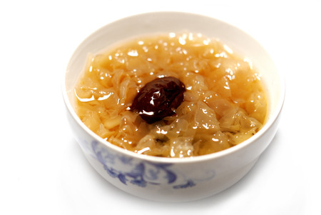 plat chinois: Tremella jujube soupe, nourriture chinoise Banque d'images