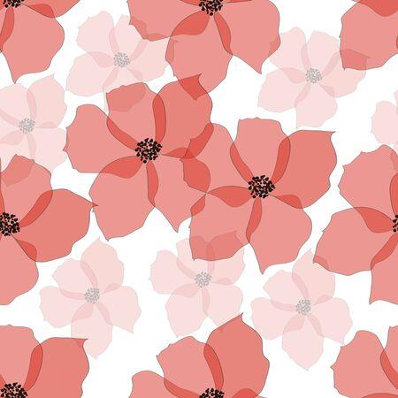 azal�e: Seamless fleur rose, vecteur Illustration
