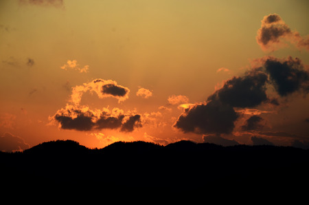 yuan yang: Sunset Stock Photo