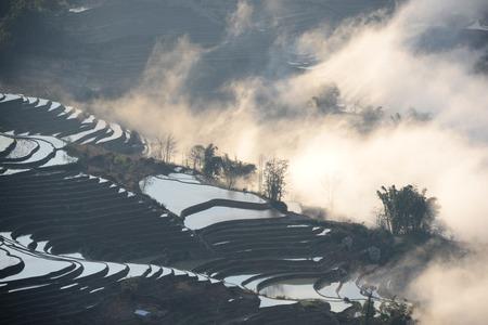 yunnan: Yunnan terraced Stock Photo