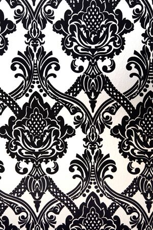 black fabric: Wallpaper and fabric patterns in black and white - close-up