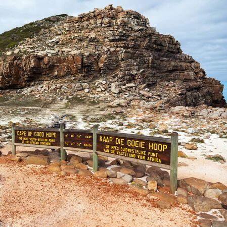 cape of good hope: Cape of Good Hope in South Africa - square