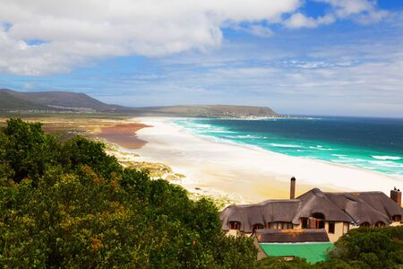 marvellous: Marvellous beach and lonely house in South Africa - horizontal