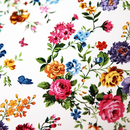 green background pattern: floral background with different flowers - square - close up Stock Photo