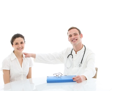 Young doctor with a folio of the patient Stock Photo - 13311891