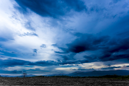 Beautiful and mysterious vast blue sky.