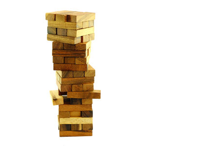 Jenga game on isolated background photo