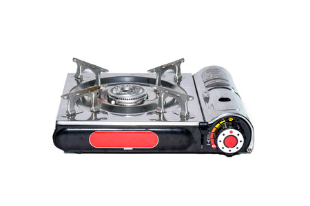 old gas stove: portable gas stove and cartridge