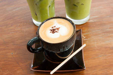 energize: a cup of coffee and iced green tea