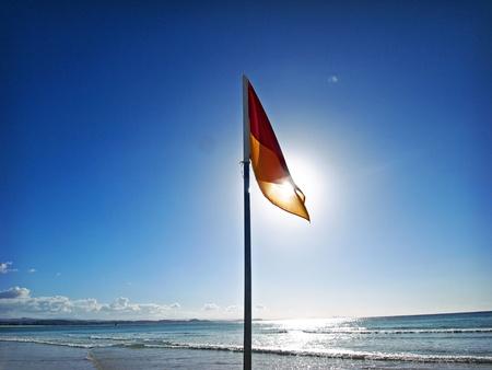 lifesaver: surf lifesaver flag, Australia