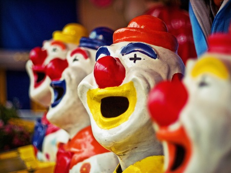 Clown with mouth opened Stock Photo