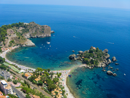 Island beautiful view from Taormina. Sicily