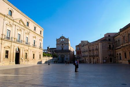 ortigia: Square of dome in Syracuse. Sicily