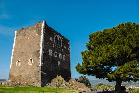 The ancient medieval castle on the historic hill of Paterno