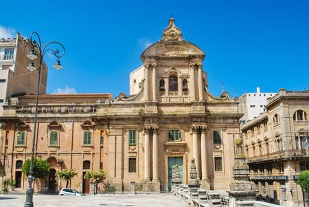 Ragusa, Italy - June 02, 2010: The Badia church in the beautiful sicilian baroque city