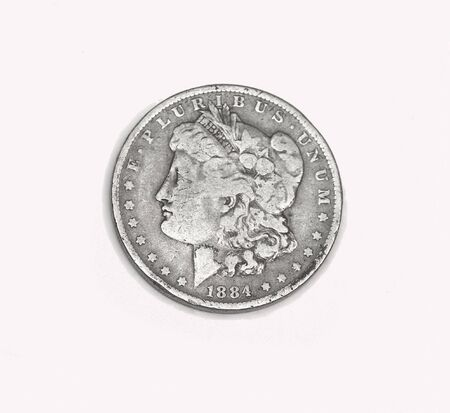 circulated: Old silver dollar, liberty head