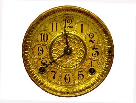 inlay: inlaid gold clock face Stock Photo