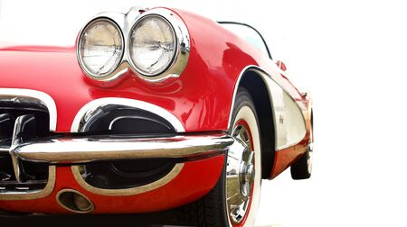 1958 vintage american street sports car, the first American production sports vehicle                Фото со стока
