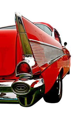 L'extrémité arrière d'un millésime 50 de l'automobile, montrant le style fin et balayé retour lignes