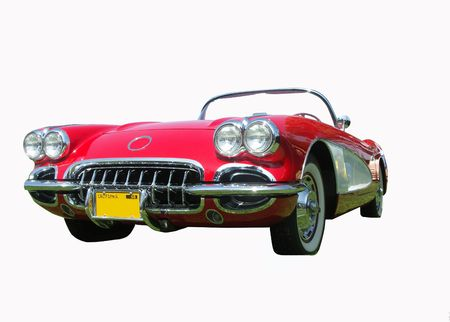 1958 American sports car on a white background