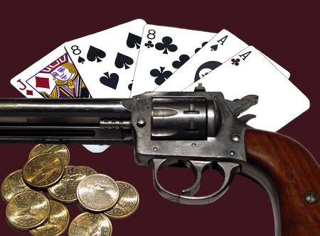 eights: Dead Mans Hand Stock Photo