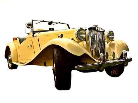 restored: a vintage 1953 British sports car Stock Photo