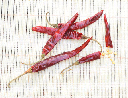 Dried red chilli pepper photo