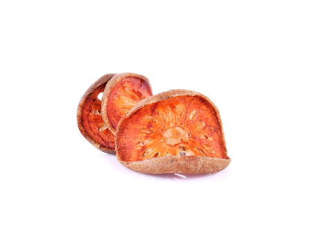 membrillo: Dried quince isolated on white background