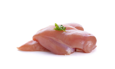 chicken breast on white background