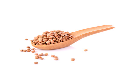 lentils on white background Zdjęcie Seryjne
