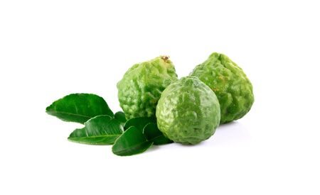 Bergamot on white background