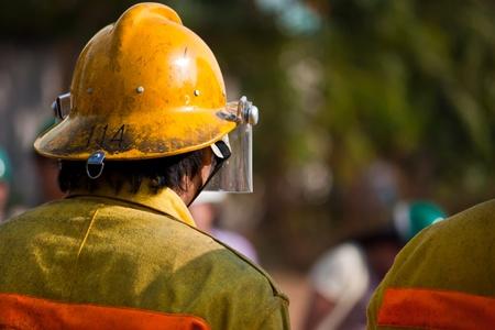 firefighter training exercise