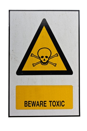 beware toxic sign Stock Photo - 11498225