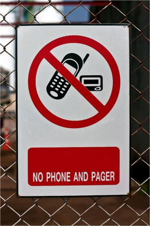 No use phone sign  photo
