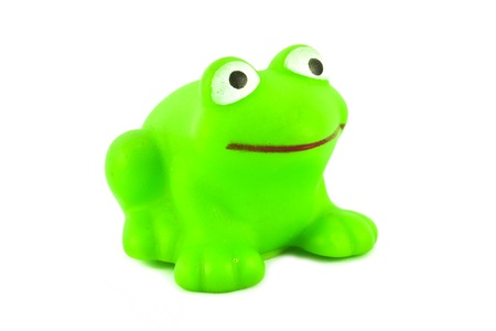 green frog toy on white background Stock Photo - 11943613