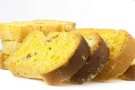 garlic bread on a white background  Stock Photo