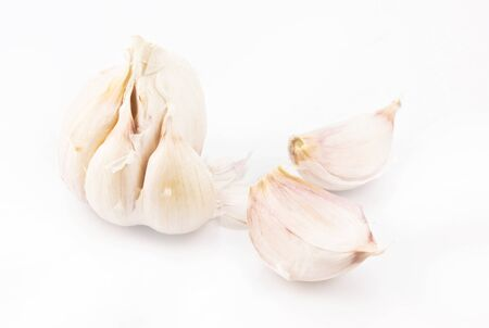 Garlic isolated on white Stock Photo - 12868050