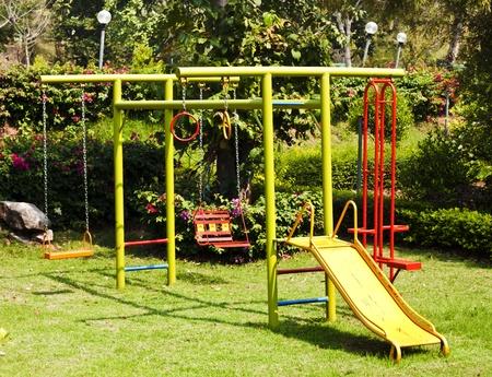 children playground equipment at botanical garden  Stock Photo - 12868177