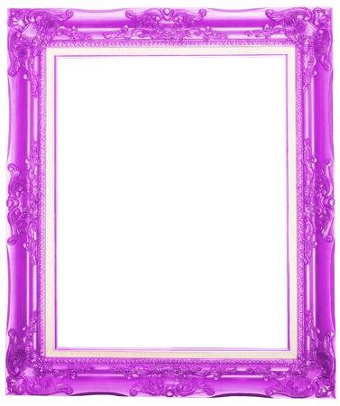 Le cadre photo rose antique isolé fond blanc Banque d'images - 13205106