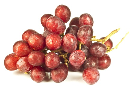 pink grapes on a white background Stock Photo - 13850142