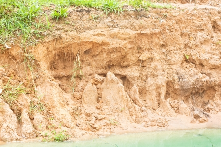 Erosion due to water erosion Stock Photo
