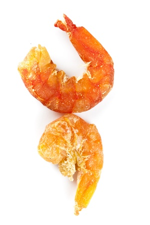 dried shrimp with the white background photo