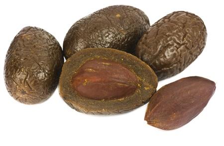 dry plum or prune fruit isolated on white background Stock Photo - 14190729