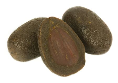 dry plum or prune fruit isolated on white background Stock Photo - 14190726