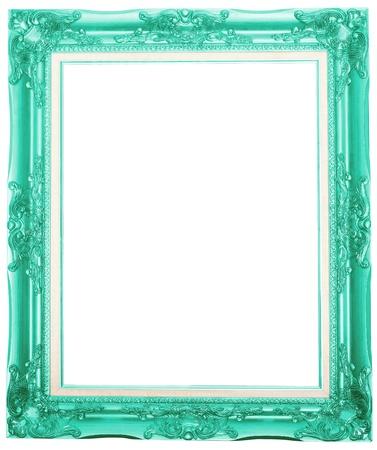 la couleur fuchsia cadre photo antique isolé sur fond blanc