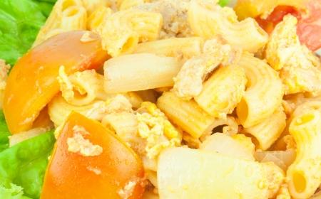 Closeup macaroni salad Stock Photo
