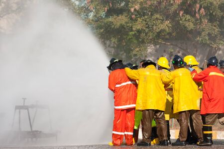 Firefighters training exercise Stock Photo - 17120203